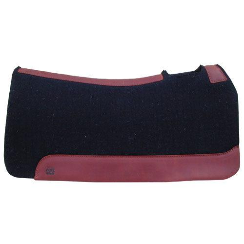 5 Star 3/4 Inch Black Wool Western Contour Saddle Pad