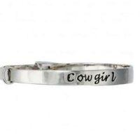 Cowgirl Silver Expansion Bangle Bracelet