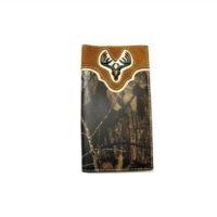 Nocona Camo Deer Skull Wallet