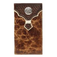 Nocona Brown Basket Weave Rodeo Wallet N54938166