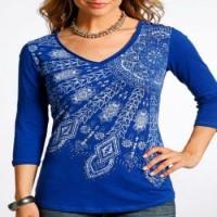 Ladies Royal Blue Shirt L9T6447