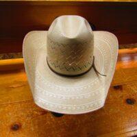American 20X Ivory & Tan Vent Straw Hat