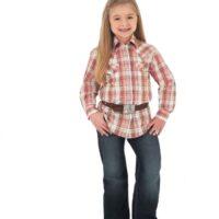 Girls Wrangler Snap Blouse GW54019-1