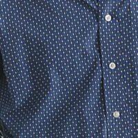 Cinch Button Blue Geometric Long Sleeve Shirt for Men
