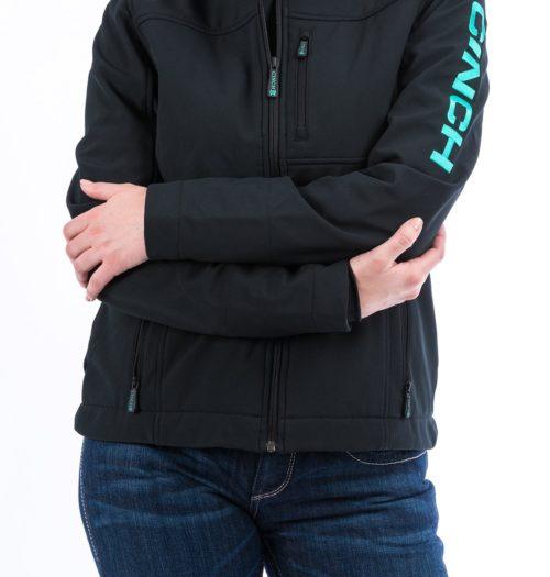 Ladies Black Bonded Carry Conceal Jacket MAJ9866004