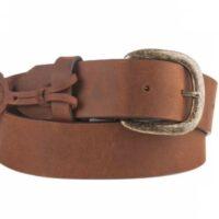 Mens Justin Bark Cowboy Work Basic Leather Belt