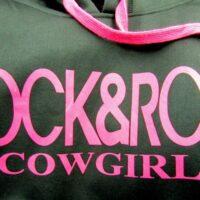 Rock n Roll Cowgirl Black Hoodie 48-3557