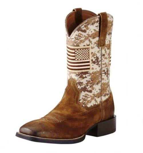 Ariat Men's Camo Patriotic Western Boot