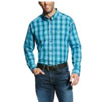 Ariat Men Long Sleeve Turquoise Plaid 10022297