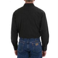 Wrangler Men's Long Sleeve Black Snap Shirt