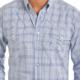 Panhandle Slim Mens Blue Plaid Snap Long Sleeve Shirt