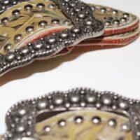 San Saba Leather Camouflage Belt Buckle Spur Straps