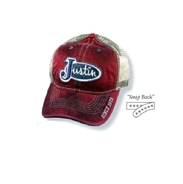 2152679b1 Justin Ball Cap Vintage Red