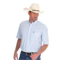 Wrangler Mens Shirt George Strait Series Short Sleeve