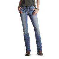 Ladies Ariat Jean R.E.A.L. Mid Rise Straight Leg 10017217