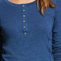 Ladies Shirt Ariat Ensign Blue Henley1_edited