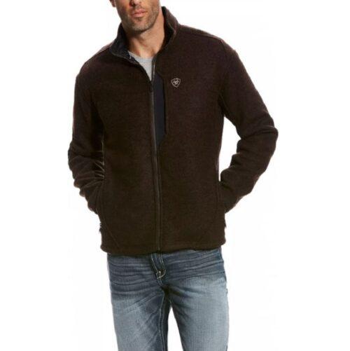 Men's Ariat Brown Western Full Zipper Jacket 10023651 - Waterloo Iowa