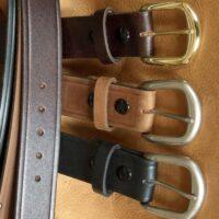Mens Western Belt Genuine Brown Leather in Oversizes