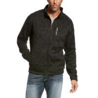 Men's Western Jacket Ariat Caldwell Full Zipper Black Fleece