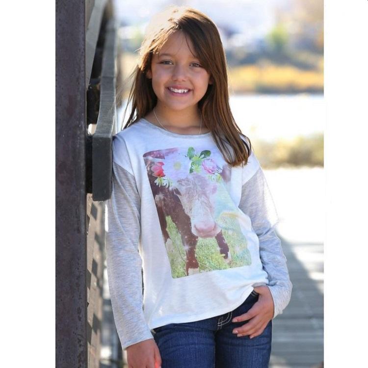 96e1d316 Cruel Girl Jersey Tee with Contrasting Sleeves CTK8070001 in Waterloo IA