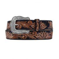 Womens Western Belt Tony Lama Delheart Daisy Design C51263