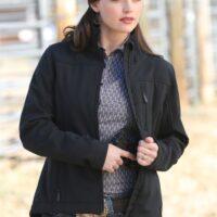 Ladies Western Jacket Cinch Carry Concealed Black Bonded MAJ9866002