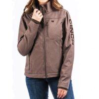 Ladies Western Cinch Carry Concealed Brown Bonded Jacket
