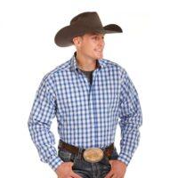 Men's Western Shirt Panhandle Tuf Cooper Long Sleeve Plaid TCD4669