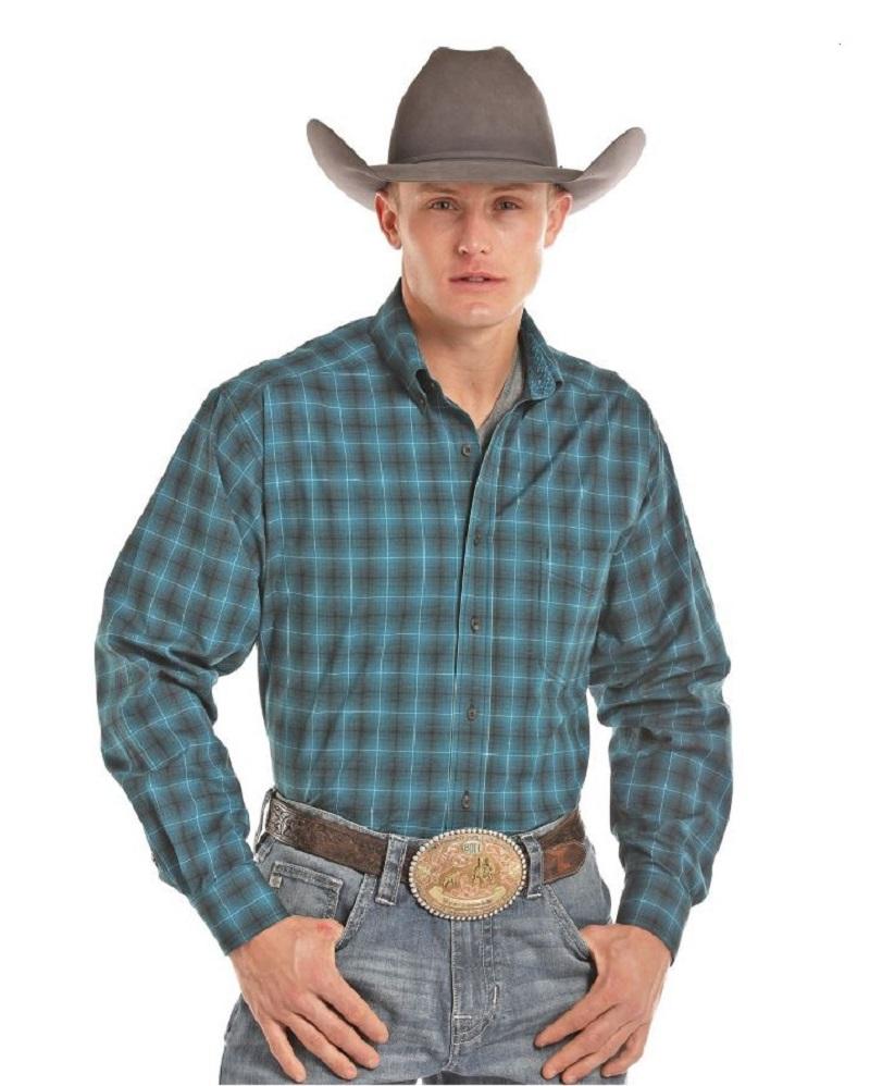 9c117abf Men's Western Shirt Panhandle Tuf Cooper Plaid TCD7216
