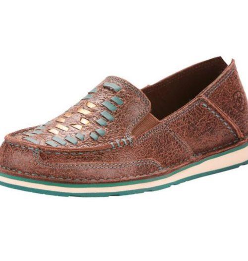 Ladies Western Casual Shoe Ariat Cruiser Weaver Brown Rebel 10025023