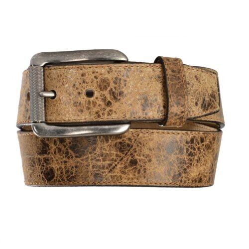 Men's Western Belt Justin Tailgunner Distressed Tan Leather