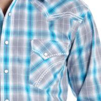 Men's Western Shirt Panhandle Dempsey Vintage Plaid