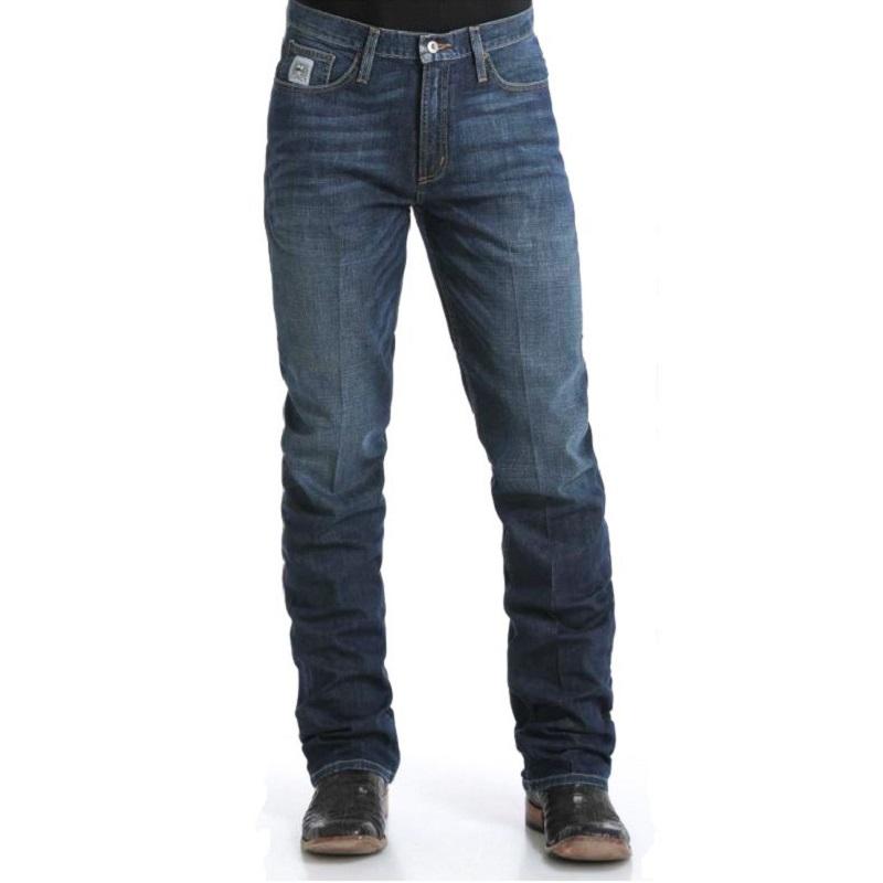 b080194c Men's Western Jean Cinch Silver Label Slim Fit Dark Stonewashed MB98034006
