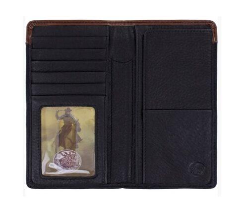 Lonestar Black and Brown Western Wallet