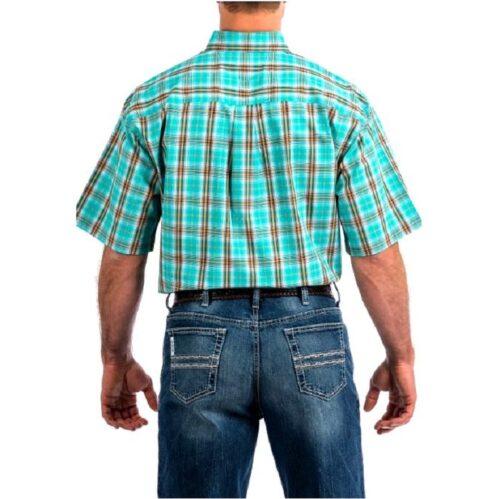 Men's Western Shirt Cinch Short Sleeve Plaid MTW1111290