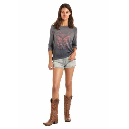 Women's Western Rock n Roll Honkey Tonk Pullover