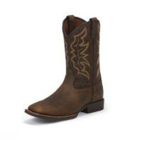 Men's Western Boot Justin Chet Pebble Brown 7222