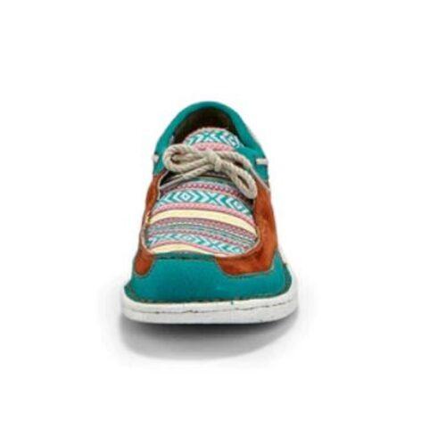 Ladies Western Shoe Justin Boatie Turquoise JL100