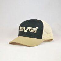 Kimes Ball Cap Black and Tan Oxbow Trucker