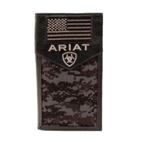 Ariat Black Digital Camo Rodeo Wallet