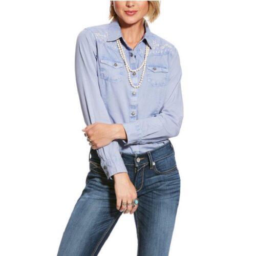 Women's Western Shirt Ariat REAL Brilliant Snap Shirt 10025924