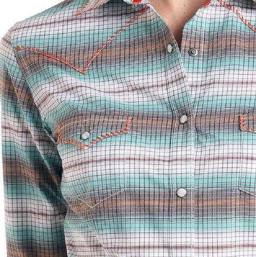 Women's Western Shirt Long Sleeve Rough Stock Plaid