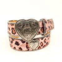 Children's Pink Leopard Belt