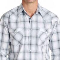 Men's LS Ombre Plaid Shirt