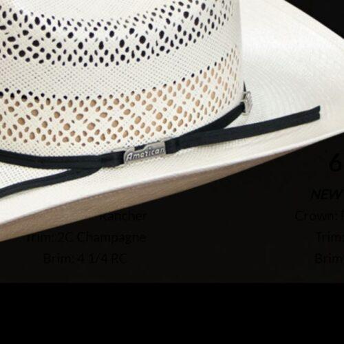 American RC Rancher Straw Hat