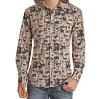 Men's LS Dale Brisby Steer Shirt