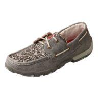 Women's Grey Boat Shoe Moccasin