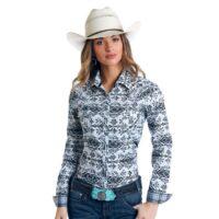 Ladies Panhandle Multi-Aztec LS Shirt