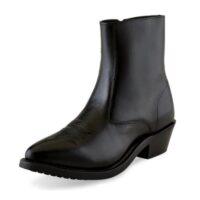 Men's Boot Old West 1/2 Zipper Black