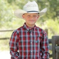 Boy's Western Red Plaid Shirt